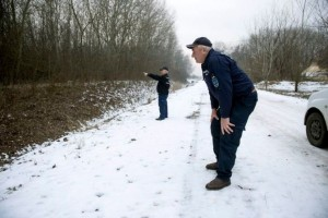 epa04568396 (05/16) The head of the Roszke branch of the voluntary police organization of civil guards Istvan Turo (L) and civil guard Mihaly Bicskei inspect a zone of forest as they patrol the Hungarian-Serbian border looking for migrants near Roszke, south of Szeged, 170 km south of Budapest, Hungary, 09 January 2015. A group of migrants from Afghanistan live these days on the Serb side of the border Serbian-Hungarian border, near Subotica, Northern Serbia and wait for human smugglers to lead them across the border line into Hungary, an EU member state. Most of the migrants coming from Asia and Africa, escaping economic crisis, poverty or war, hope to reach their dreamlands, the rich western countries of the European Union to find better living conditions and the safety of life. As the Hungarian-Serbian border is identical with the border of the Schengen zone, Hungarian authorities patrol the frontier region permanently to prevent illegal migrants crossing the border. On a daily basis dozens of would-be immigrants are caught by border police and the voluntary organization of civil guards in a narrow border region south of Szeged, 170 km south of Budapest, Hungary.  EPA/SZILARD KOSZTICSAK HUNGARY OUT ; PLEASE REFER TO ADVISORY NOTICE (epa04568391) FOR FULL FEATURE TEXT